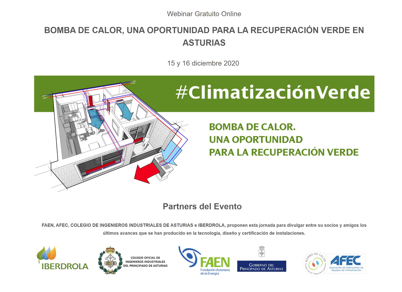 Webinar «Bomba de calor, una oportunidad para la recuperación verde en Asturias»