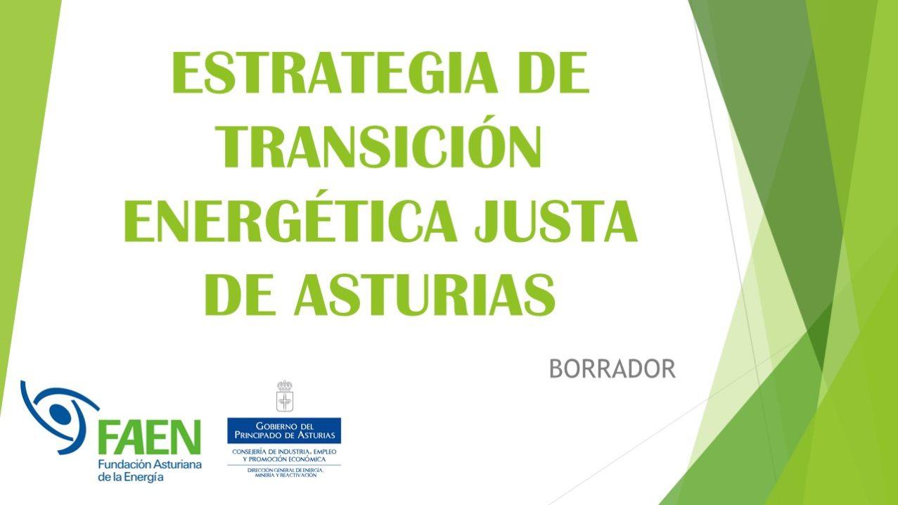 ESTRATEGIA DE TRANSICIÓN ENERGÉTICA JUSTA DE ASTURIAS